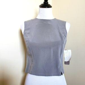 Jones NY 100% Silk Sleeveless Shell Blouse